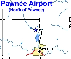 Map to Pawnee Airport